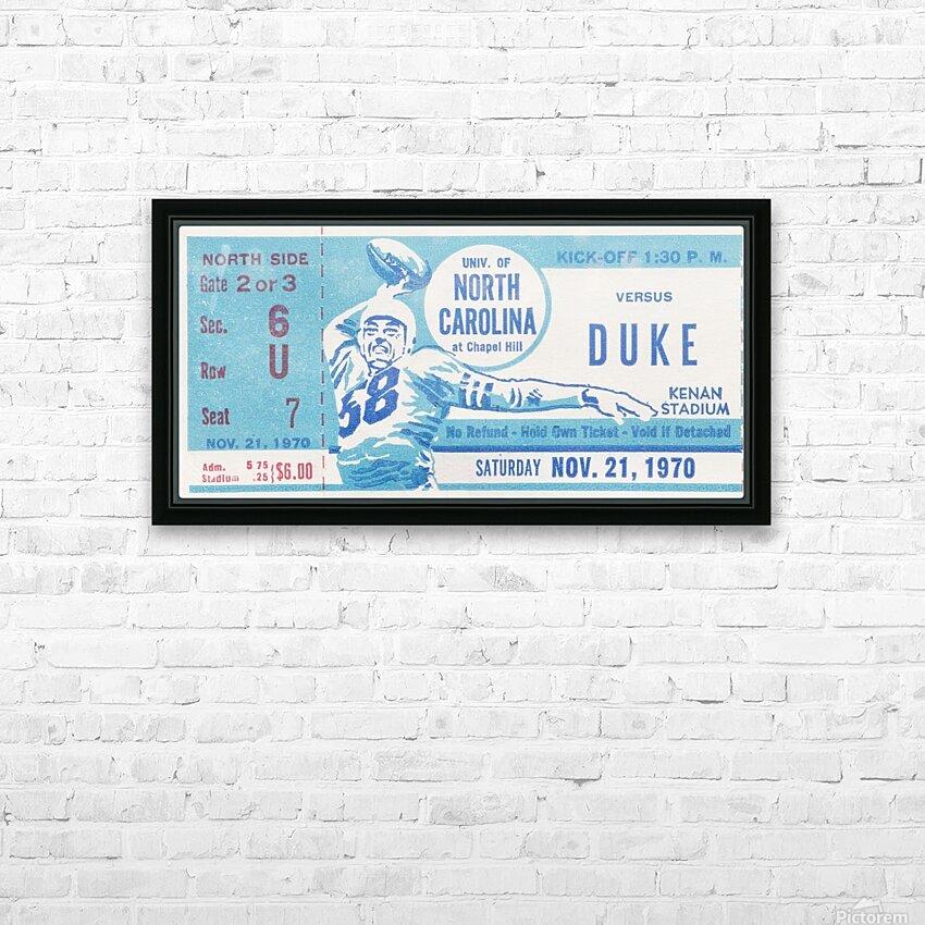 1970 North Carolina vs. Duke HD Sublimation Metal print with Decorating Float Frame (BOX)