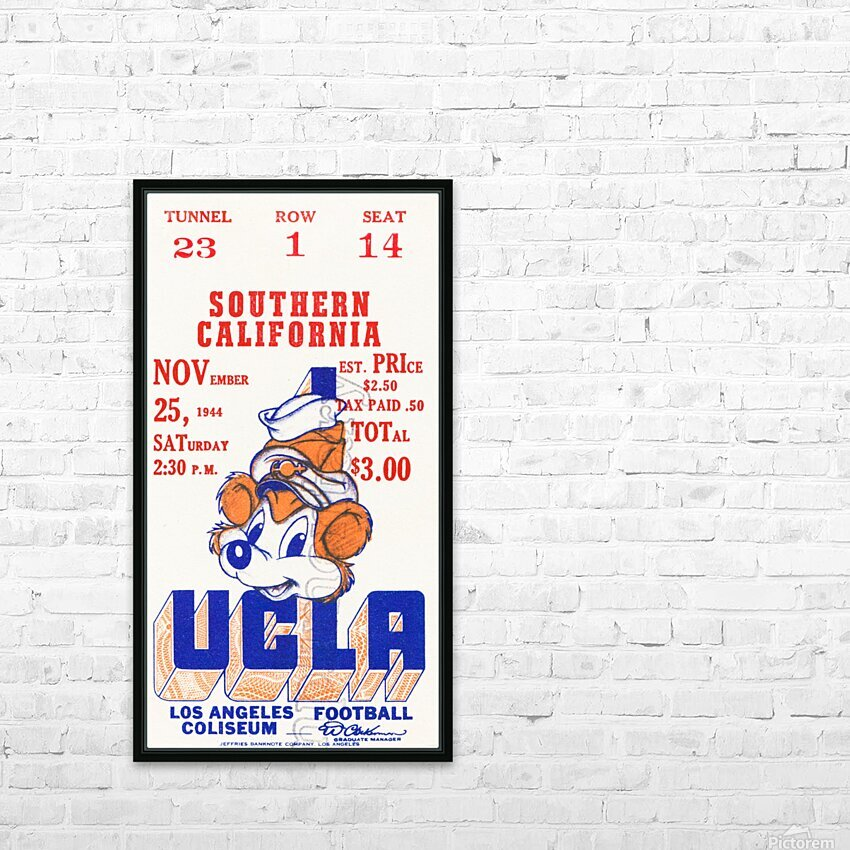 1944 USC vs. UCLA HD Sublimation Metal print with Decorating Float Frame (BOX)