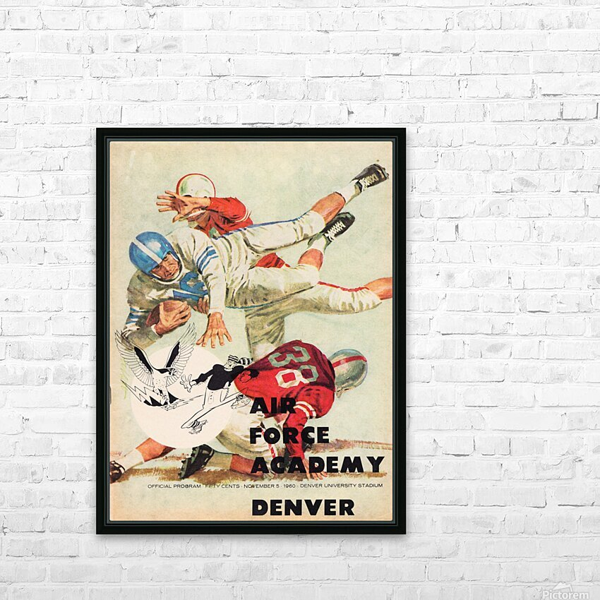 1961 Air Force vs. Denver HD Sublimation Metal print with Decorating Float Frame (BOX)