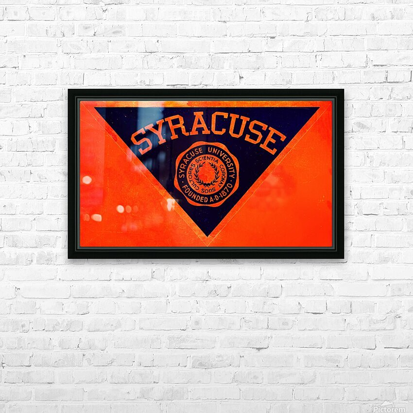 Vintage Syracuse Art HD Sublimation Metal print with Decorating Float Frame (BOX)