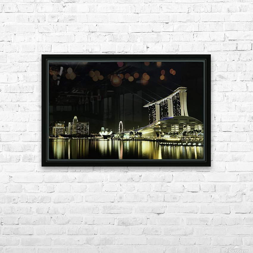 Night in the City by hardibudi   HD Sublimation Metal print with Decorating Float Frame (BOX)