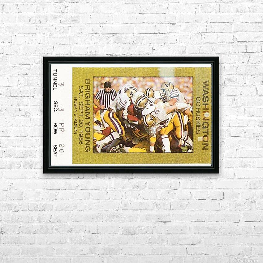 1986 Washington vs. BYU HD Sublimation Metal print with Decorating Float Frame (BOX)