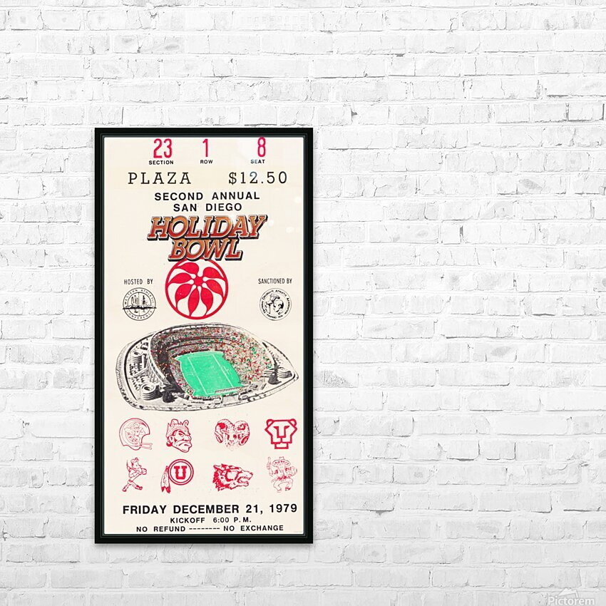1979 Holiday Bowl Indiana Win HD Sublimation Metal print with Decorating Float Frame (BOX)