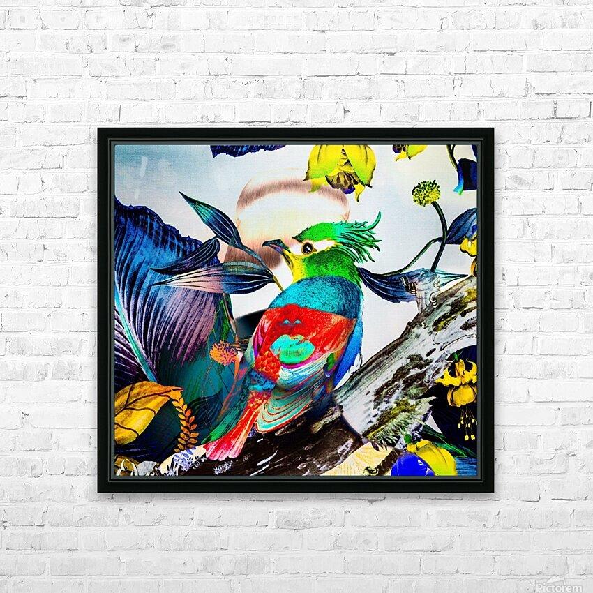 LA FEMME OISEAU  HD Sublimation Metal print with Decorating Float Frame (BOX)