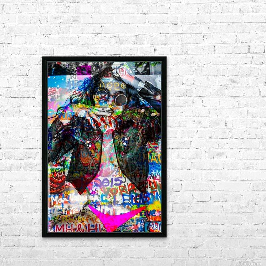 LA FEMME A LA VESTE DE CUIR  HD Sublimation Metal print with Decorating Float Frame (BOX)