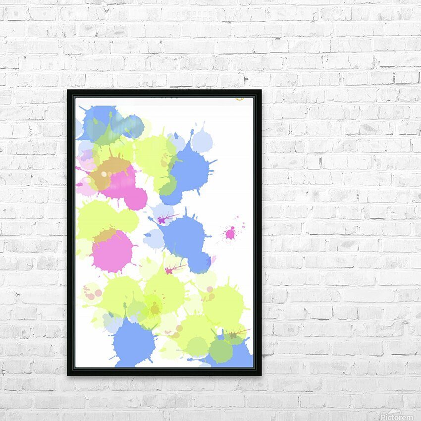 Cotton candy HD Sublimation Metal print with Decorating Float Frame (BOX)