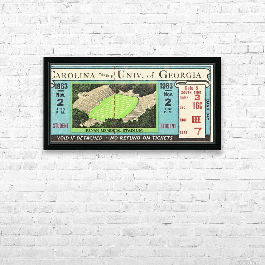 1963 North Carolina vs. Georgia HD Sublimation Metal print with Decorating Float Frame (BOX)