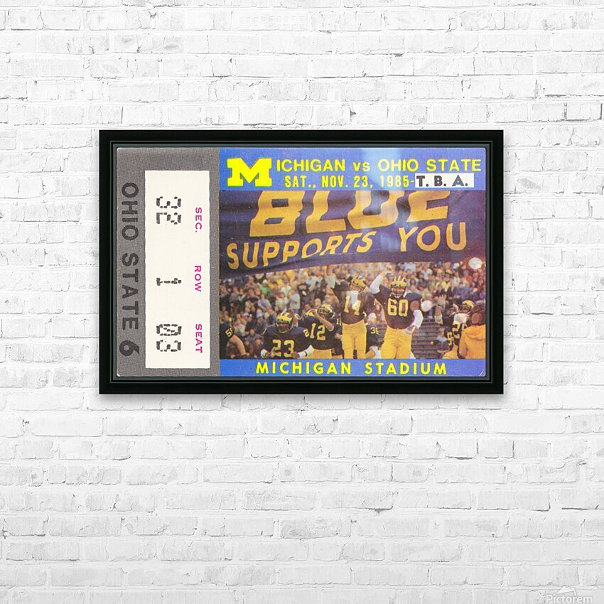 1985 Michigan vs. Ohio State HD Sublimation Metal print with Decorating Float Frame (BOX)