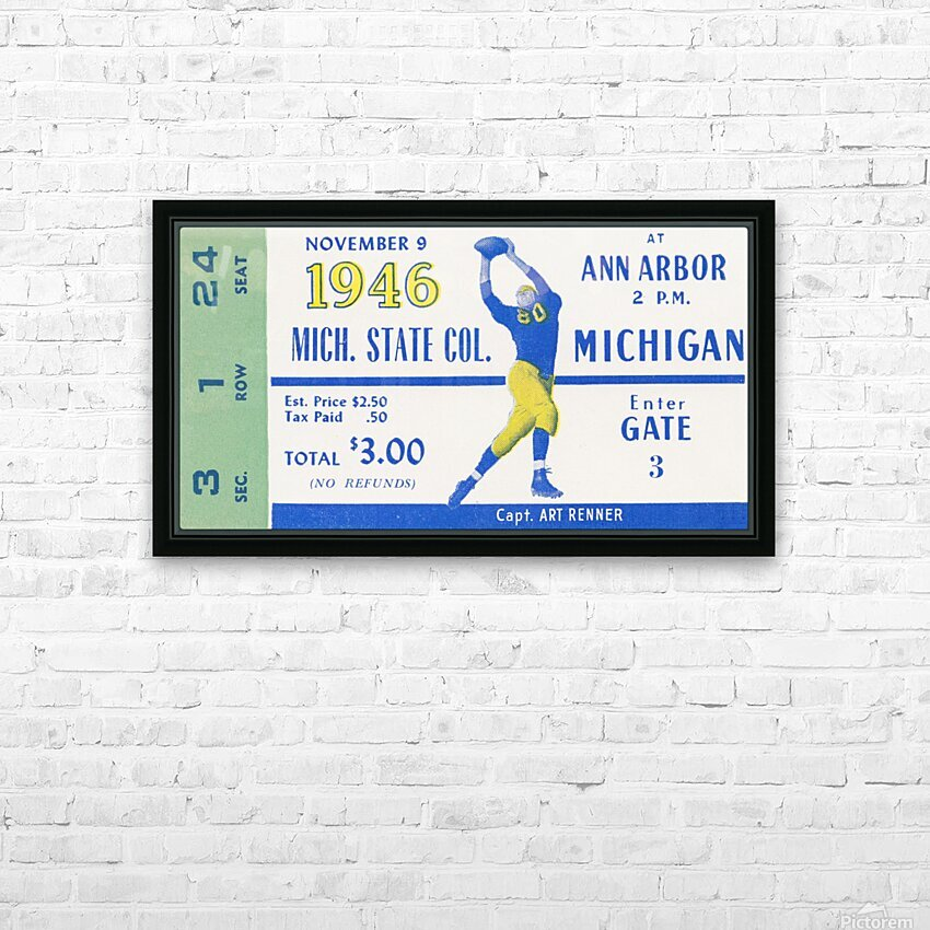 1946 Michigan vs. Michigan State HD Sublimation Metal print with Decorating Float Frame (BOX)