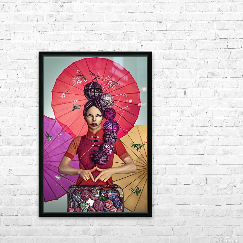 Knit II HD Sublimation Metal print with Decorating Float Frame (BOX)