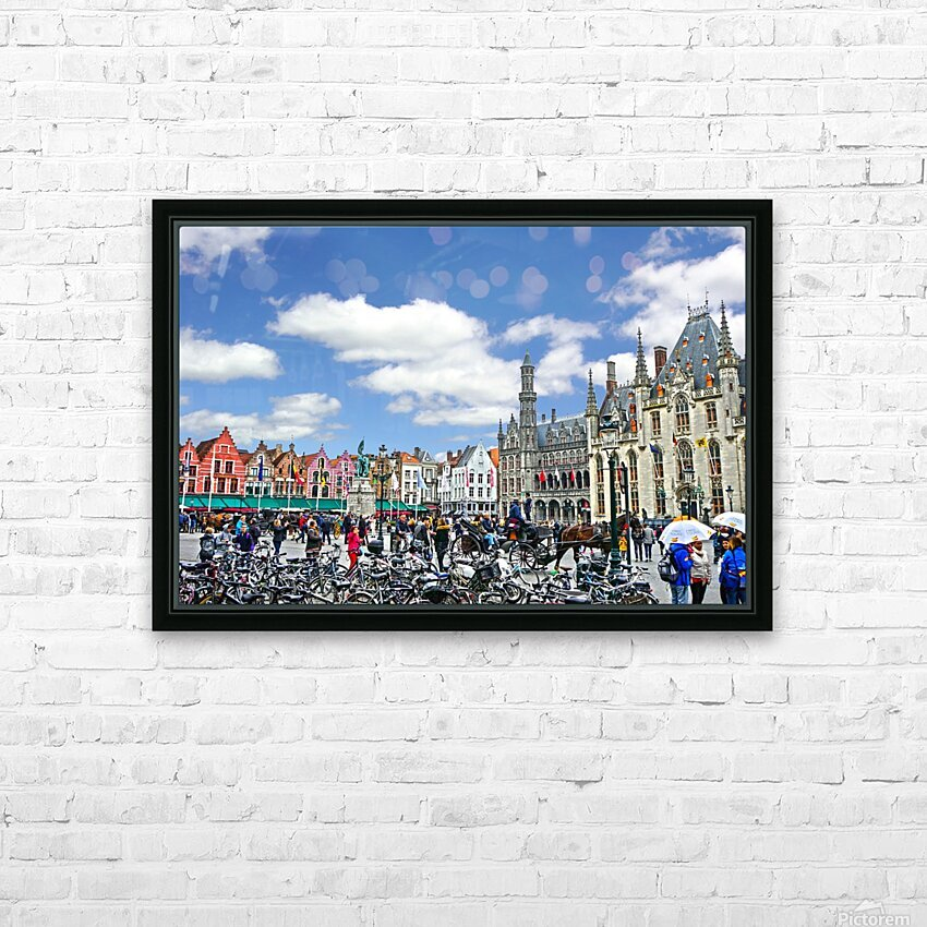 Passport to Belgium 1 of 5 HD Sublimation Metal print with Decorating Float Frame (BOX)