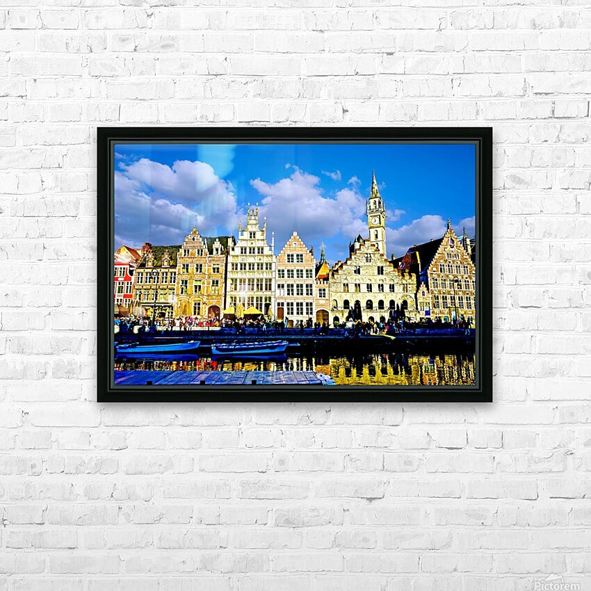 Passport to Belgium 3 of 5 HD Sublimation Metal print with Decorating Float Frame (BOX)