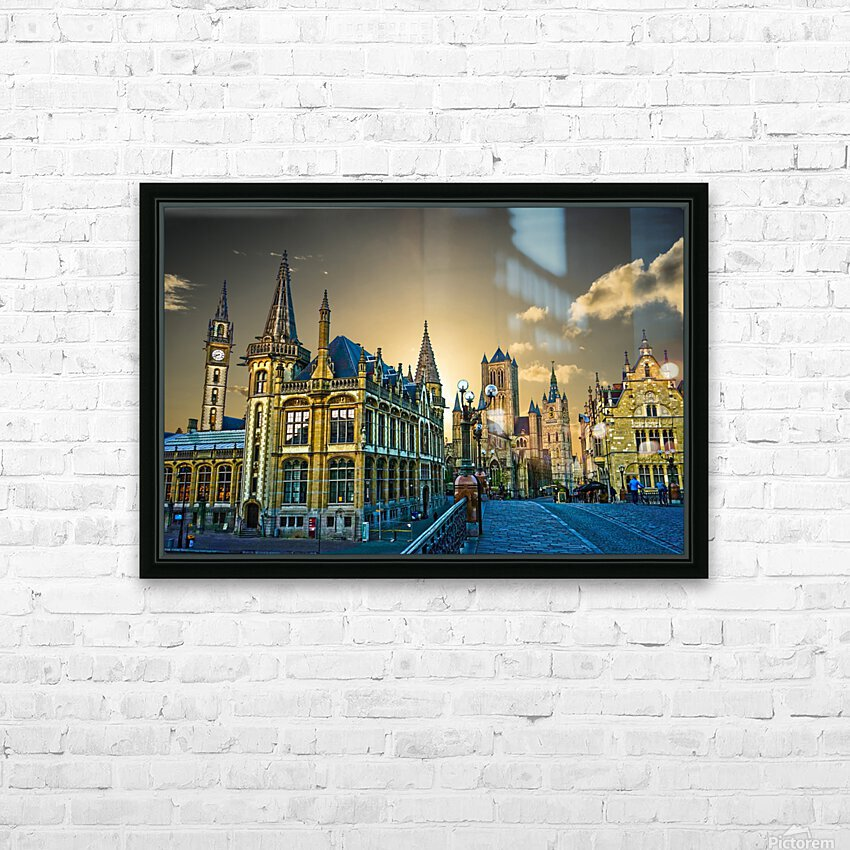 Passport to Belgium 2 of 5 HD Sublimation Metal print with Decorating Float Frame (BOX)