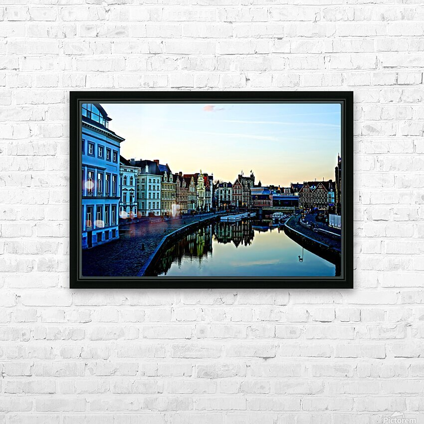 Passport to Belgium 4 of 5 HD Sublimation Metal print with Decorating Float Frame (BOX)
