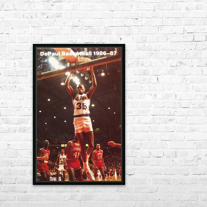 1986-87 DePaul Basketball HD Sublimation Metal print with Decorating Float Frame (BOX)