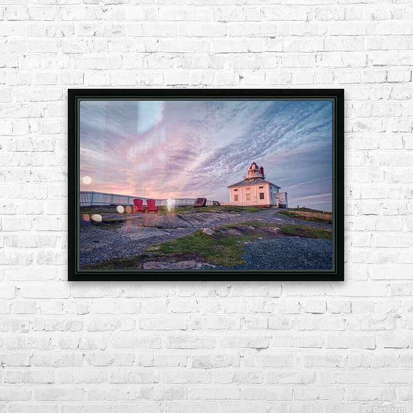 Cape Spear Sunrise HD Sublimation Metal print with Decorating Float Frame (BOX)