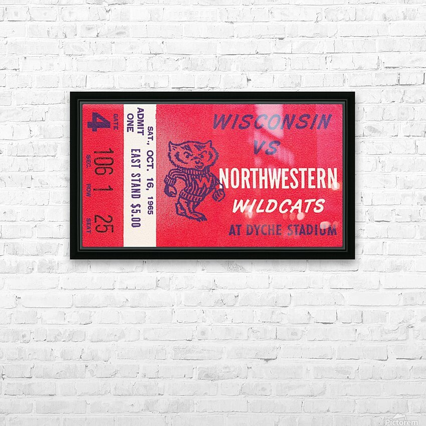 1965 Northwestern vs. Wisconsin HD Sublimation Metal print with Decorating Float Frame (BOX)