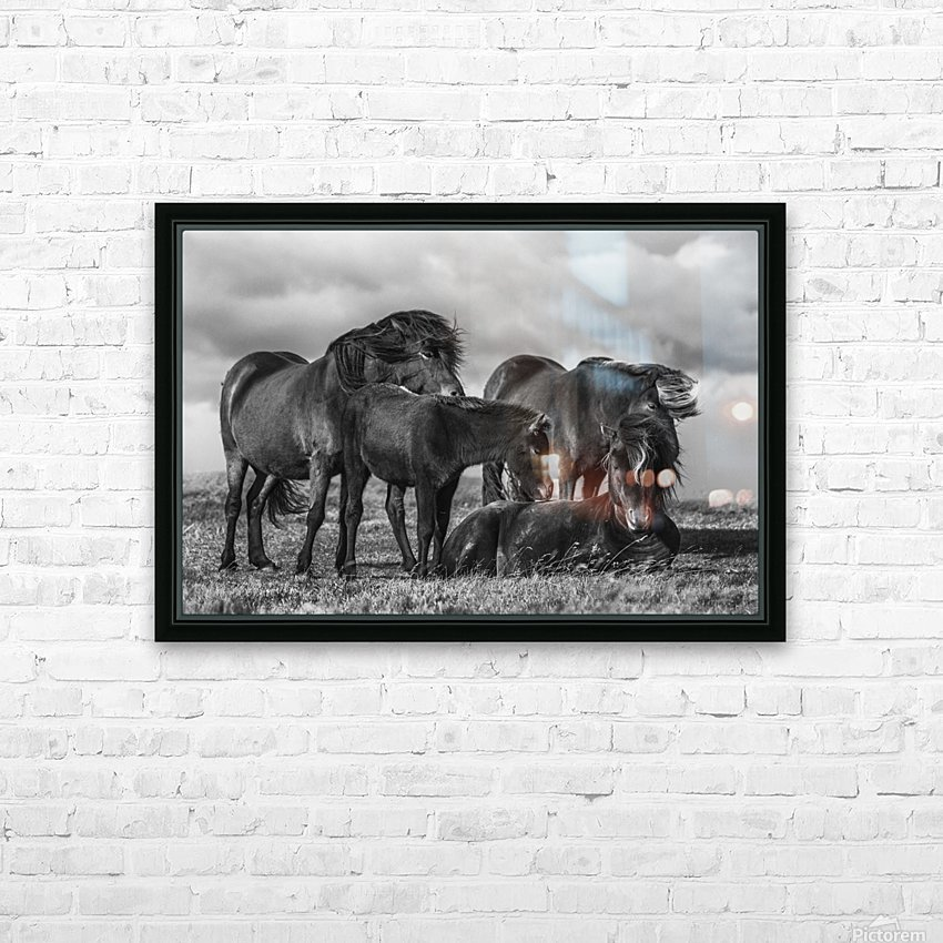 Happy Family by Bragi Ingibergsson HD Sublimation Metal print with Decorating Float Frame (BOX)