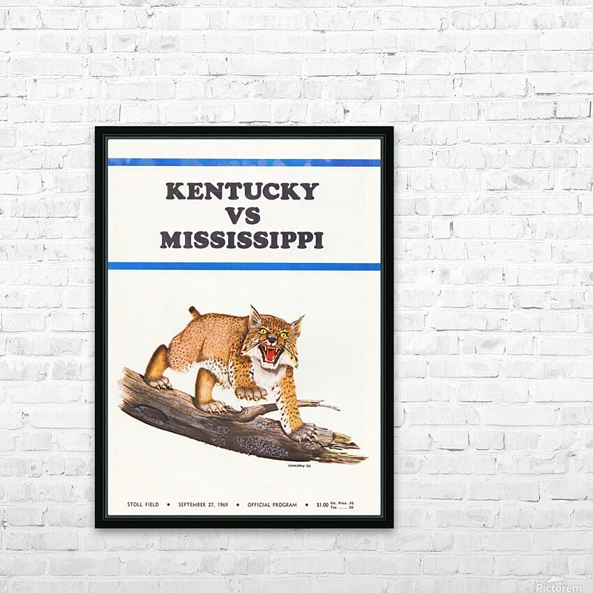 1969 Kentucky vs. Mississippi HD Sublimation Metal print with Decorating Float Frame (BOX)