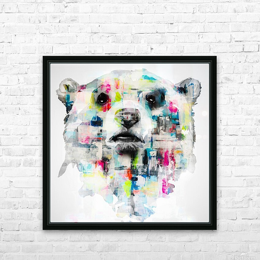 L ours HD Sublimation Metal print with Decorating Float Frame (BOX)