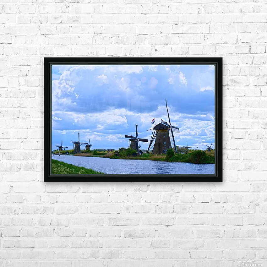 Windmills of the Netherlands 1 of 4 HD Sublimation Metal print with Decorating Float Frame (BOX)
