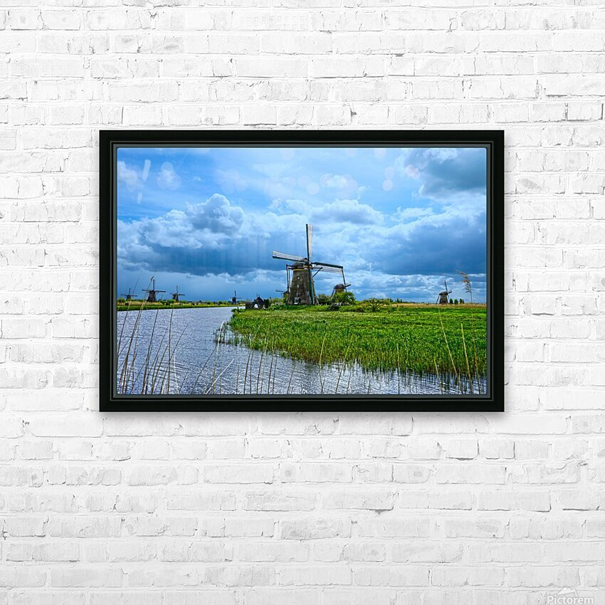 Windmills of the Netherlands 3 of 4 HD Sublimation Metal print with Decorating Float Frame (BOX)