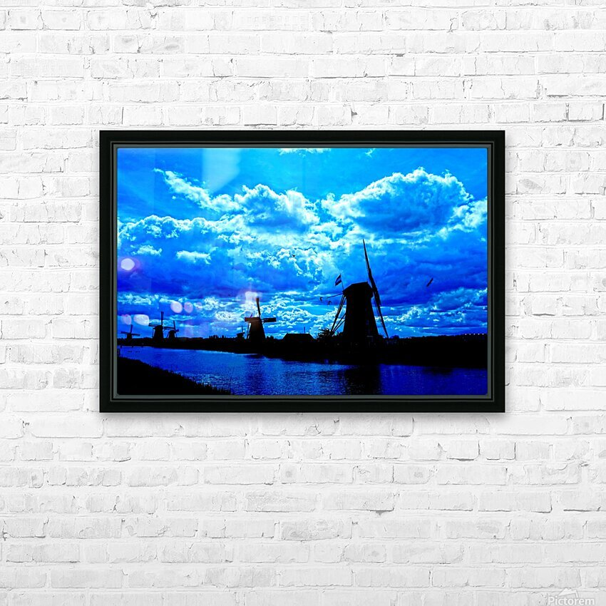 Windmills of the Netherlands 4 of 4 HD Sublimation Metal print with Decorating Float Frame (BOX)
