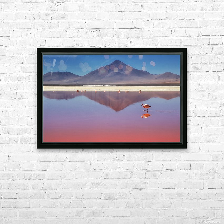 Pink Morning HD Sublimation Metal print with Decorating Float Frame (BOX)