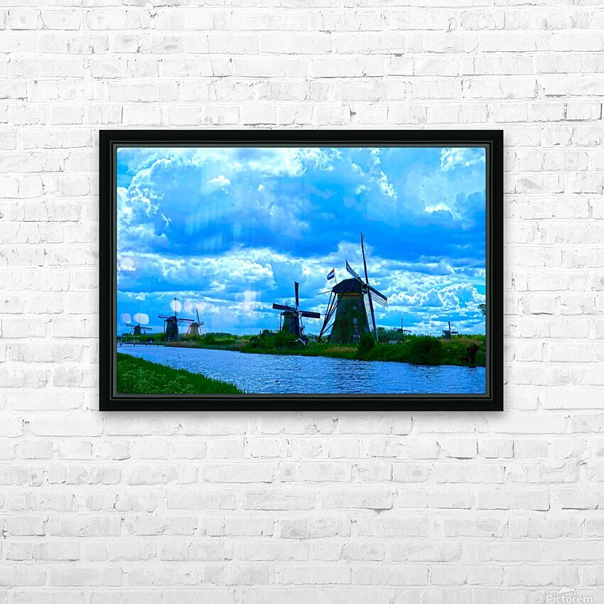 I Dreamed of Windmills HD Sublimation Metal print with Decorating Float Frame (BOX)