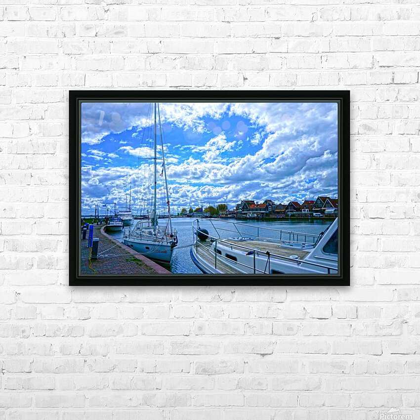 Inland Harbor Netherlands 2 of 5 HD Sublimation Metal print with Decorating Float Frame (BOX)