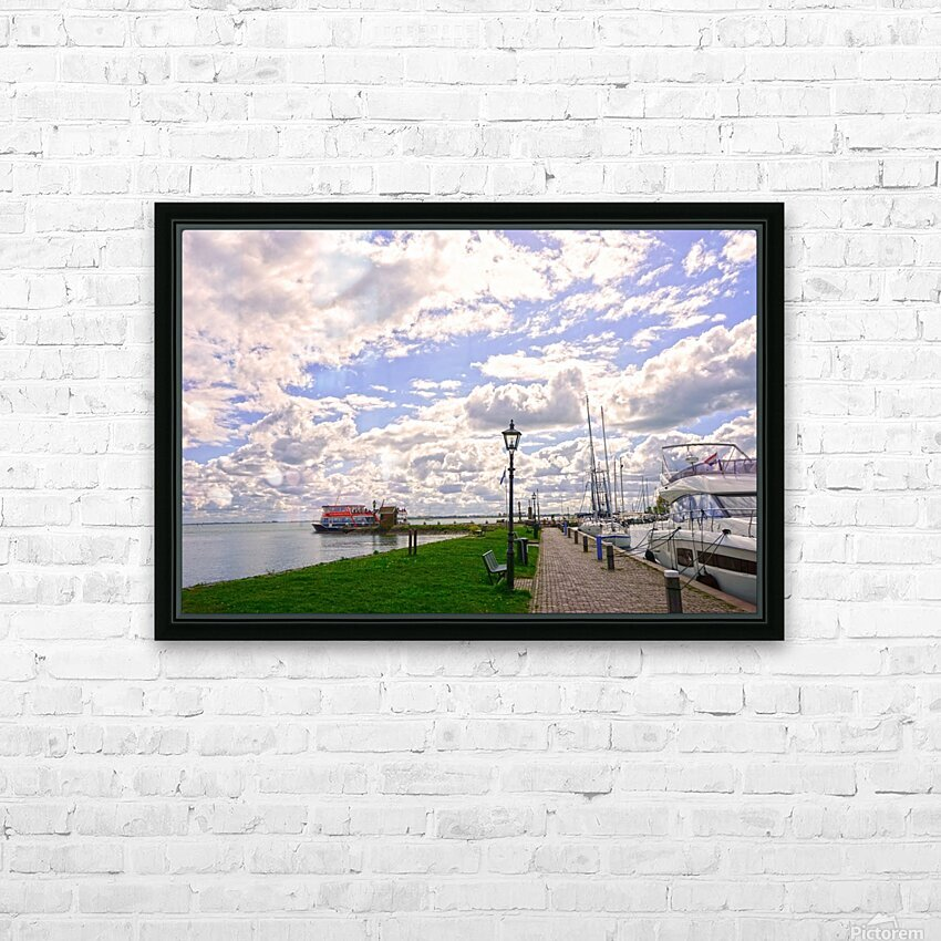 Inland Harbor Netherlands 3 of 5 HD Sublimation Metal print with Decorating Float Frame (BOX)