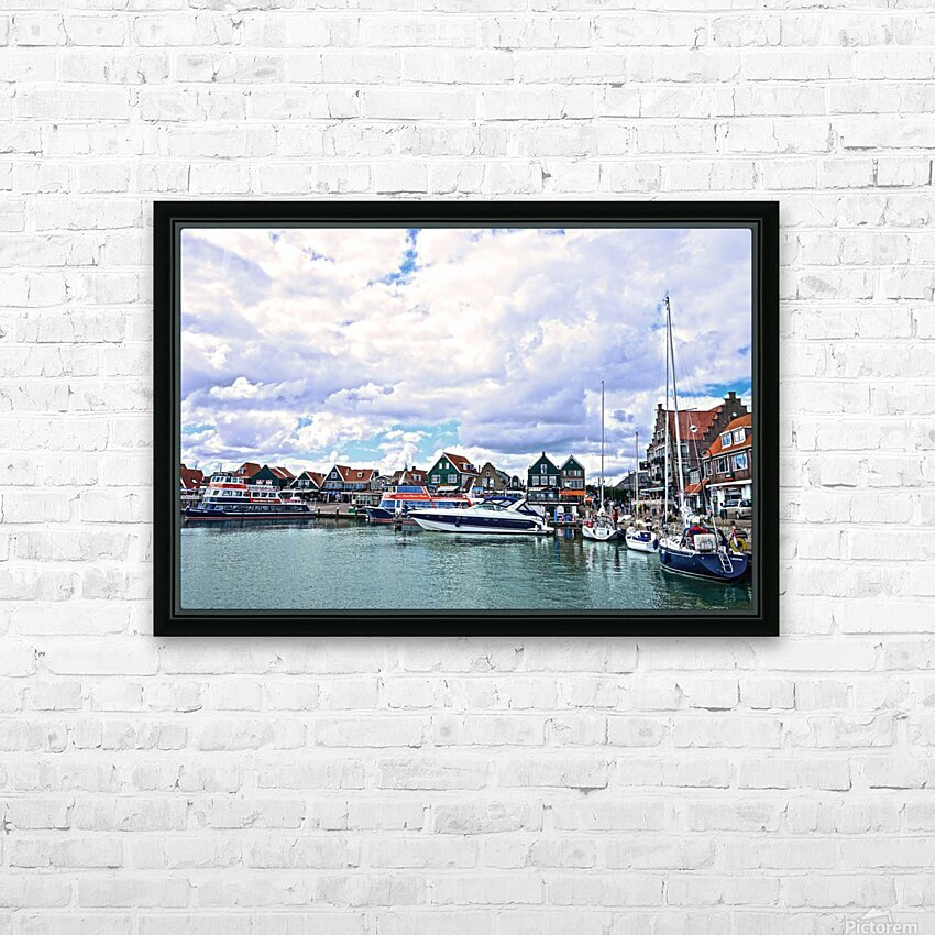Inland Harbor Netherlands 1 of 5 HD Sublimation Metal print with Decorating Float Frame (BOX)