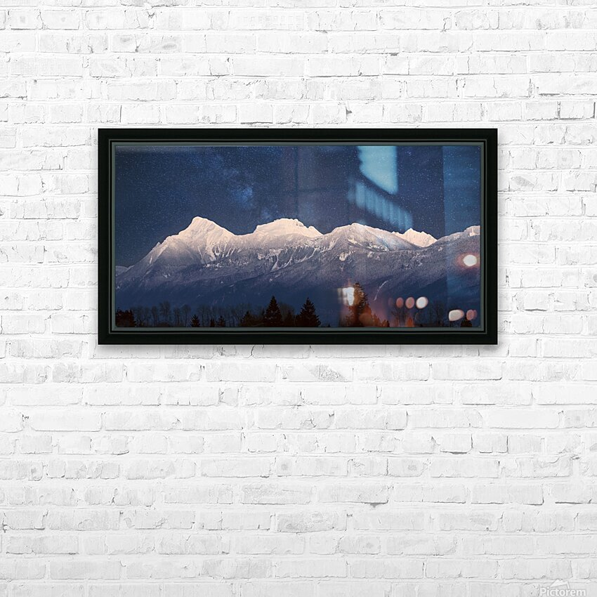 Mt. Cheam Range In Snow HD Sublimation Metal print with Decorating Float Frame (BOX)