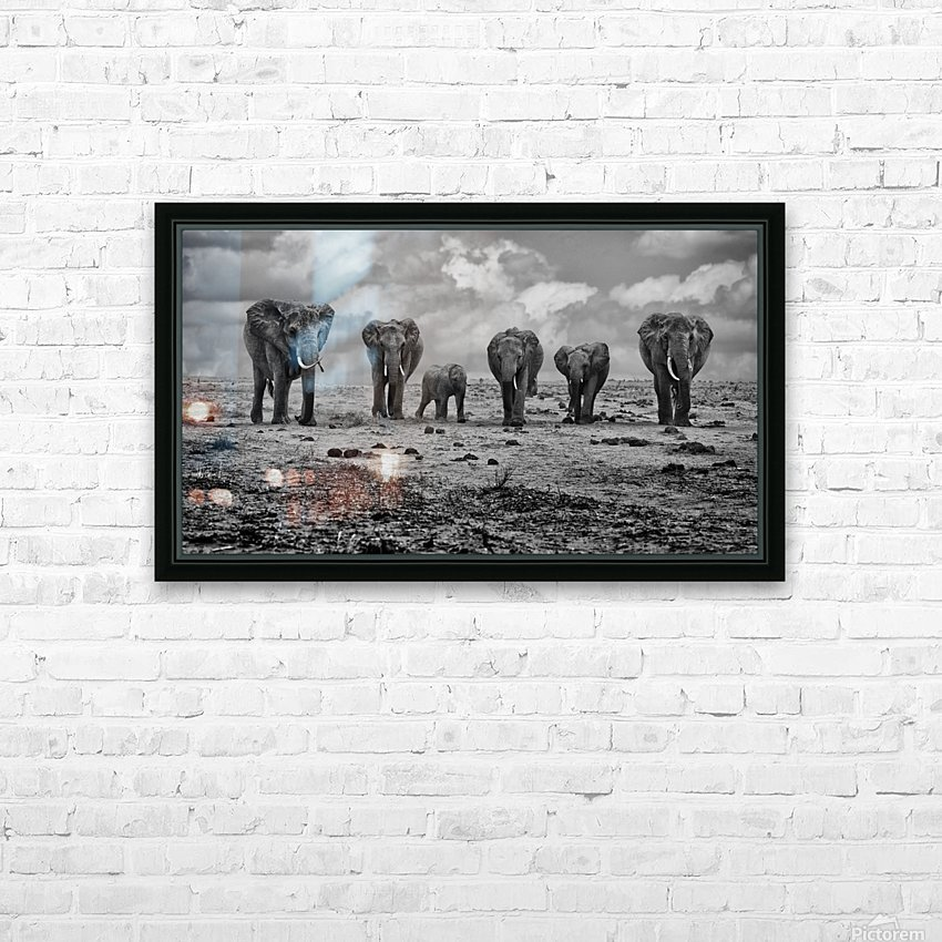 Big Family HD Sublimation Metal print with Decorating Float Frame (BOX)
