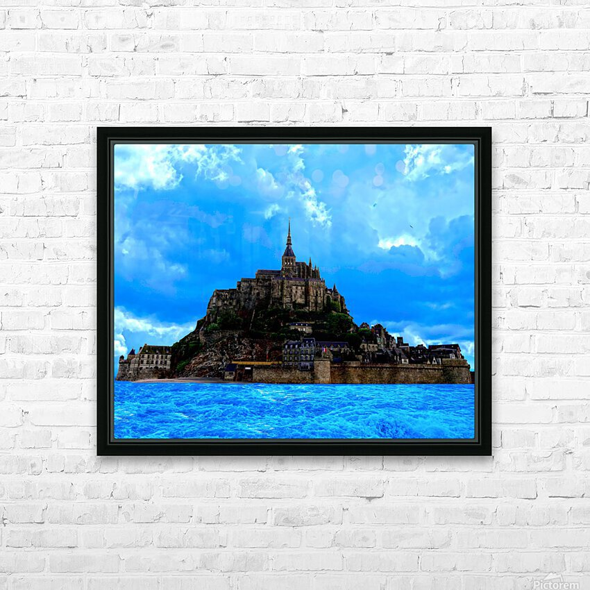 Mont Saint Michel  HD Sublimation Metal print with Decorating Float Frame (BOX)