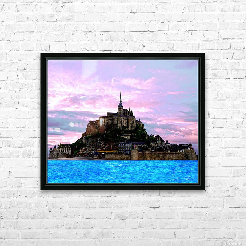 Mont St Michel at Sunset HD Sublimation Metal print with Decorating Float Frame (BOX)