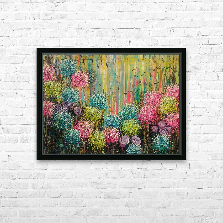 Flower Candy  HD Sublimation Metal print with Decorating Float Frame (BOX)