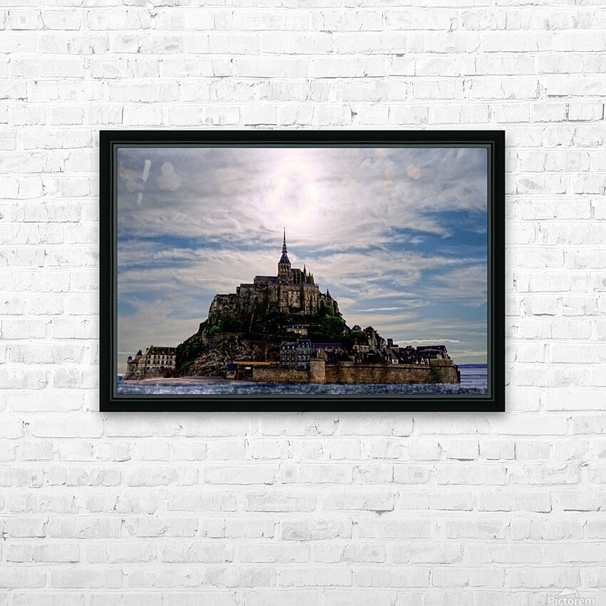 Mount Saint Michael The Fires of Heaven HD Sublimation Metal print with Decorating Float Frame (BOX)