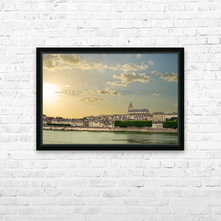 Blois and Cathedrale Saint Louis Across the Loire HD Sublimation Metal print with Decorating Float Frame (BOX)