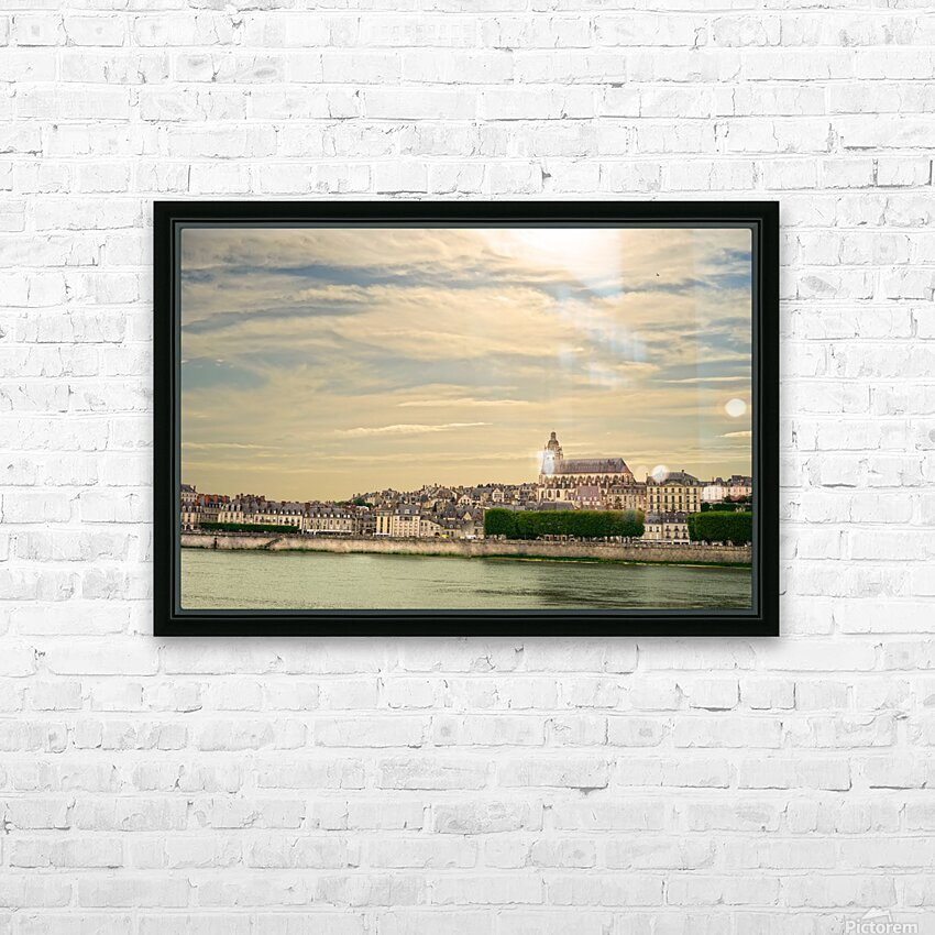 Cathedrale Saint Louis Across the Loire HD Sublimation Metal print with Decorating Float Frame (BOX)