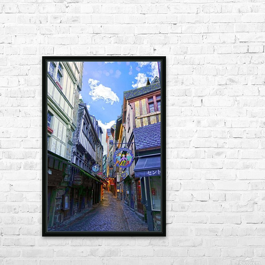 A Day at Mont Saint Michel 3 of 12 HD Sublimation Metal print with Decorating Float Frame (BOX)