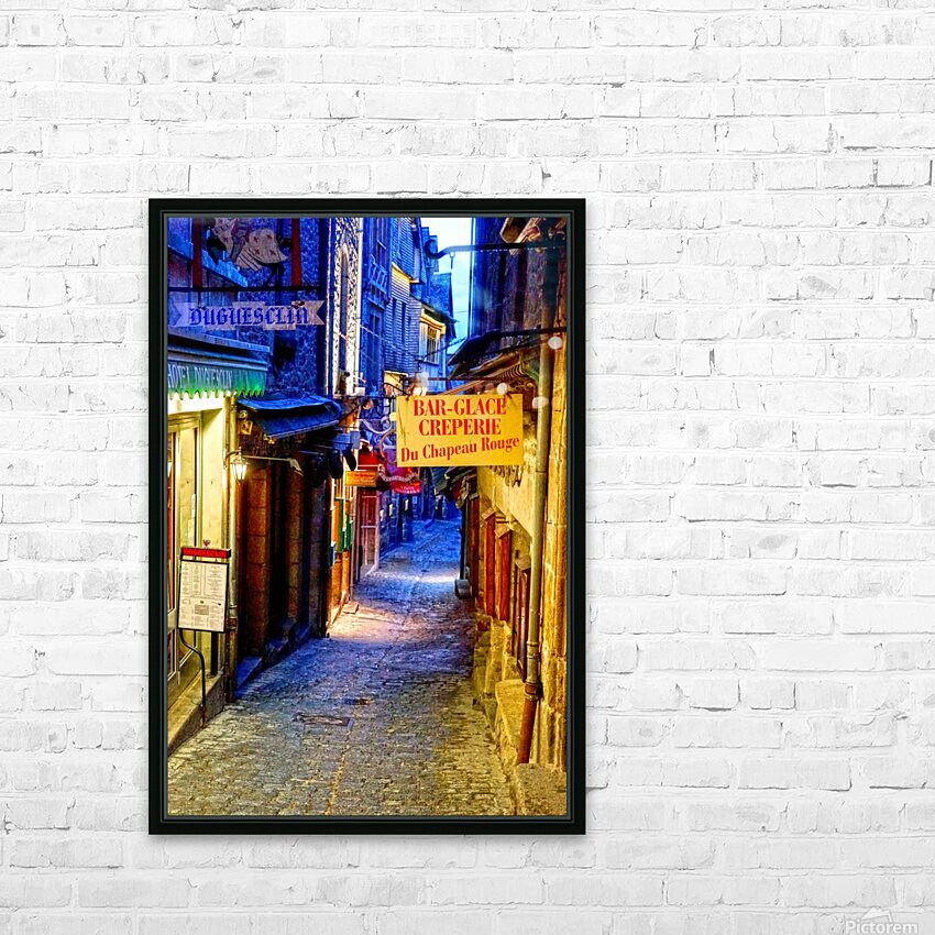 A Day at Mont Saint Michel 4 of 12 HD Sublimation Metal print with Decorating Float Frame (BOX)