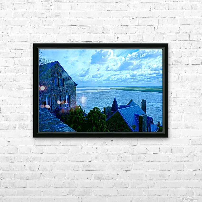 A Day at Mont Saint Michel 11 of 12 HD Sublimation Metal print with Decorating Float Frame (BOX)