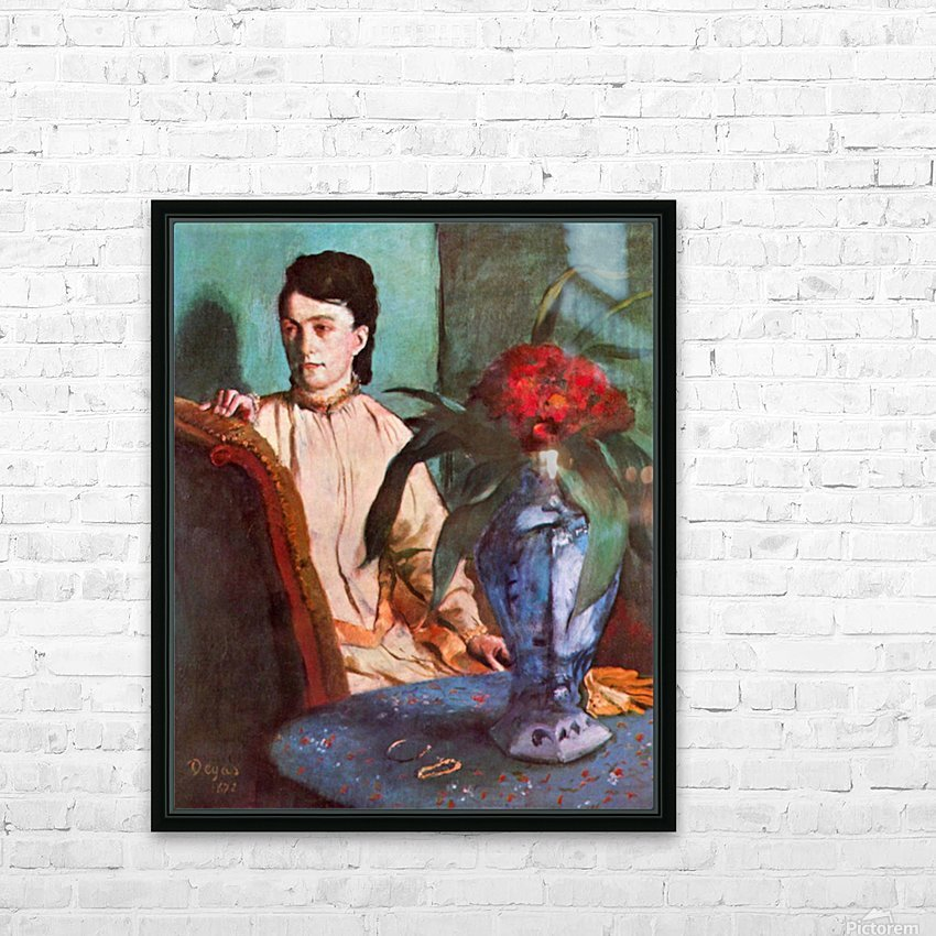 Seated woman by Degas HD Sublimation Metal print with Decorating Float Frame (BOX)