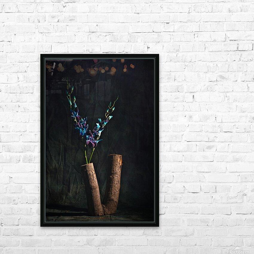 Fleur doiseau HD Sublimation Metal print with Decorating Float Frame (BOX)