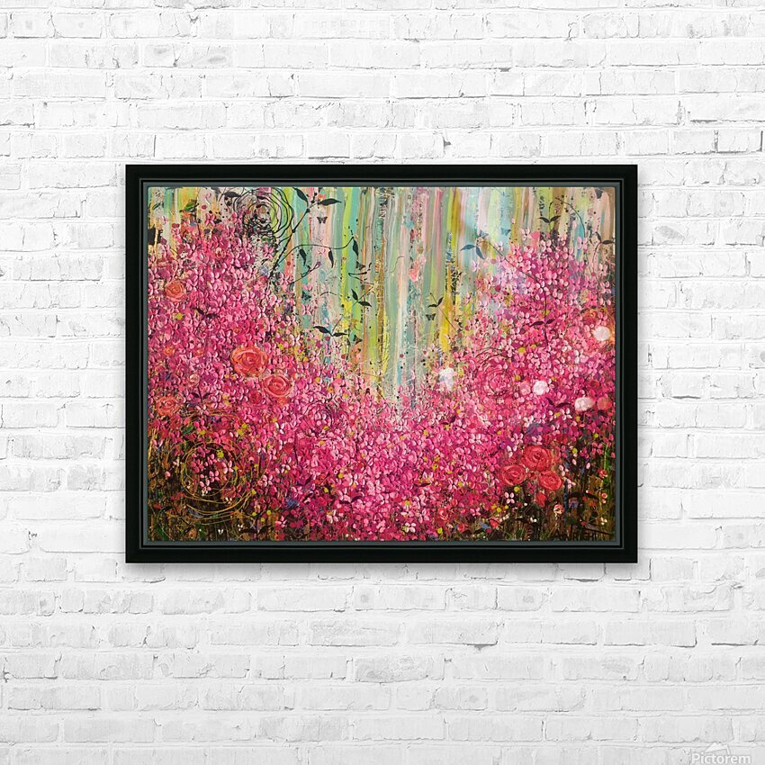 Floral Cascade  HD Sublimation Metal print with Decorating Float Frame (BOX)