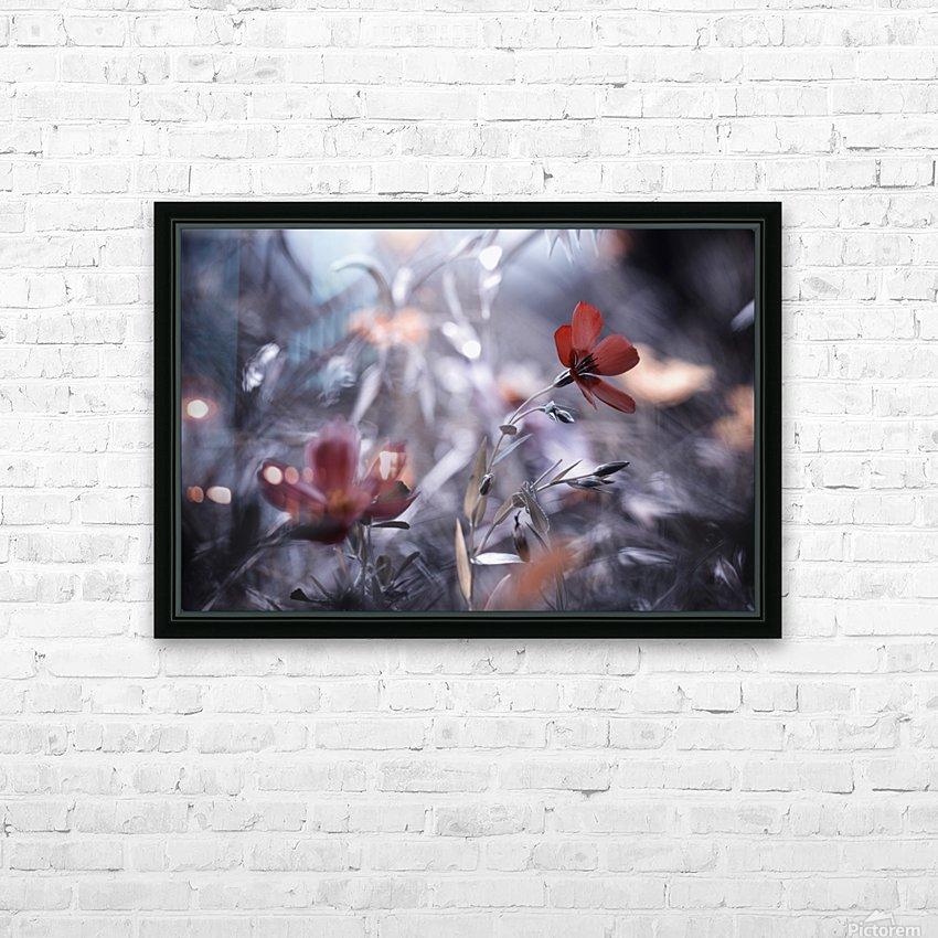 Une Fleur, une Histoire by Fabien BRAVIN  HD sublimation métal imprimé avec décoration flotteur cadre (boîte)