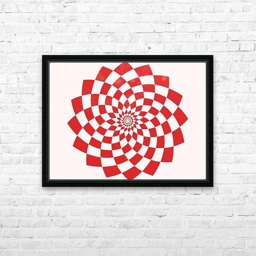 Red flake  HD Sublimation Metal print with Decorating Float Frame (BOX)