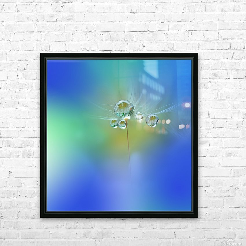 World of Drops HD Sublimation Metal print with Decorating Float Frame (BOX)