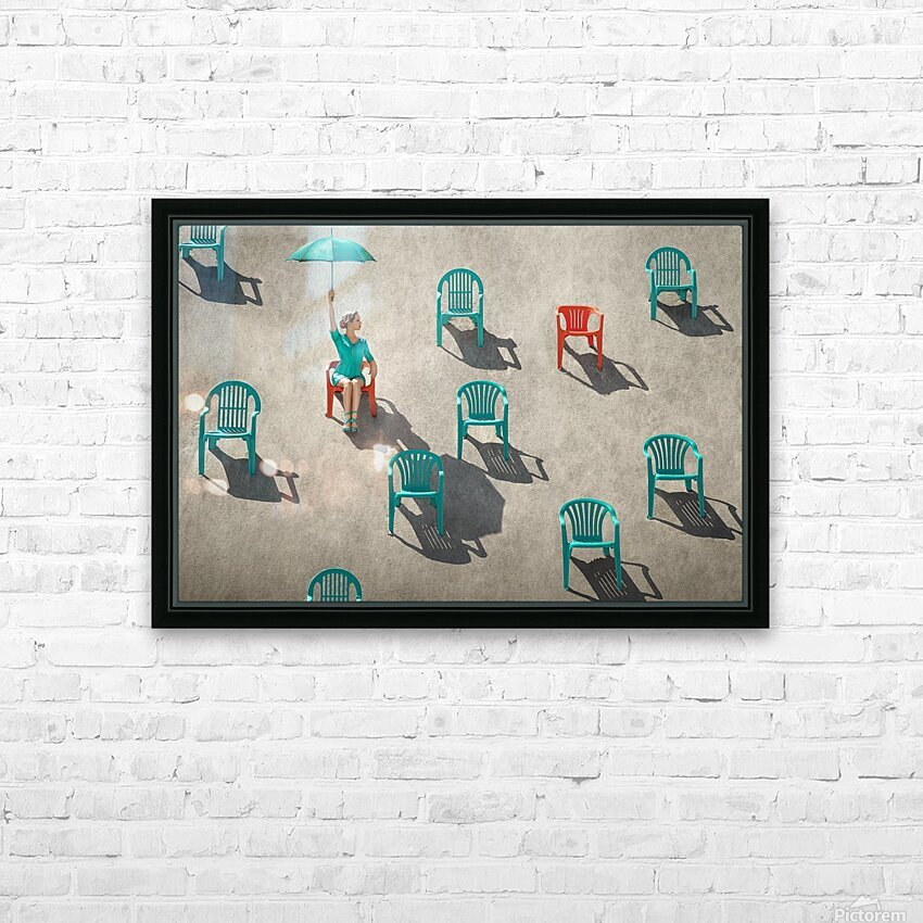 Mismatch HD Sublimation Metal print with Decorating Float Frame (BOX)